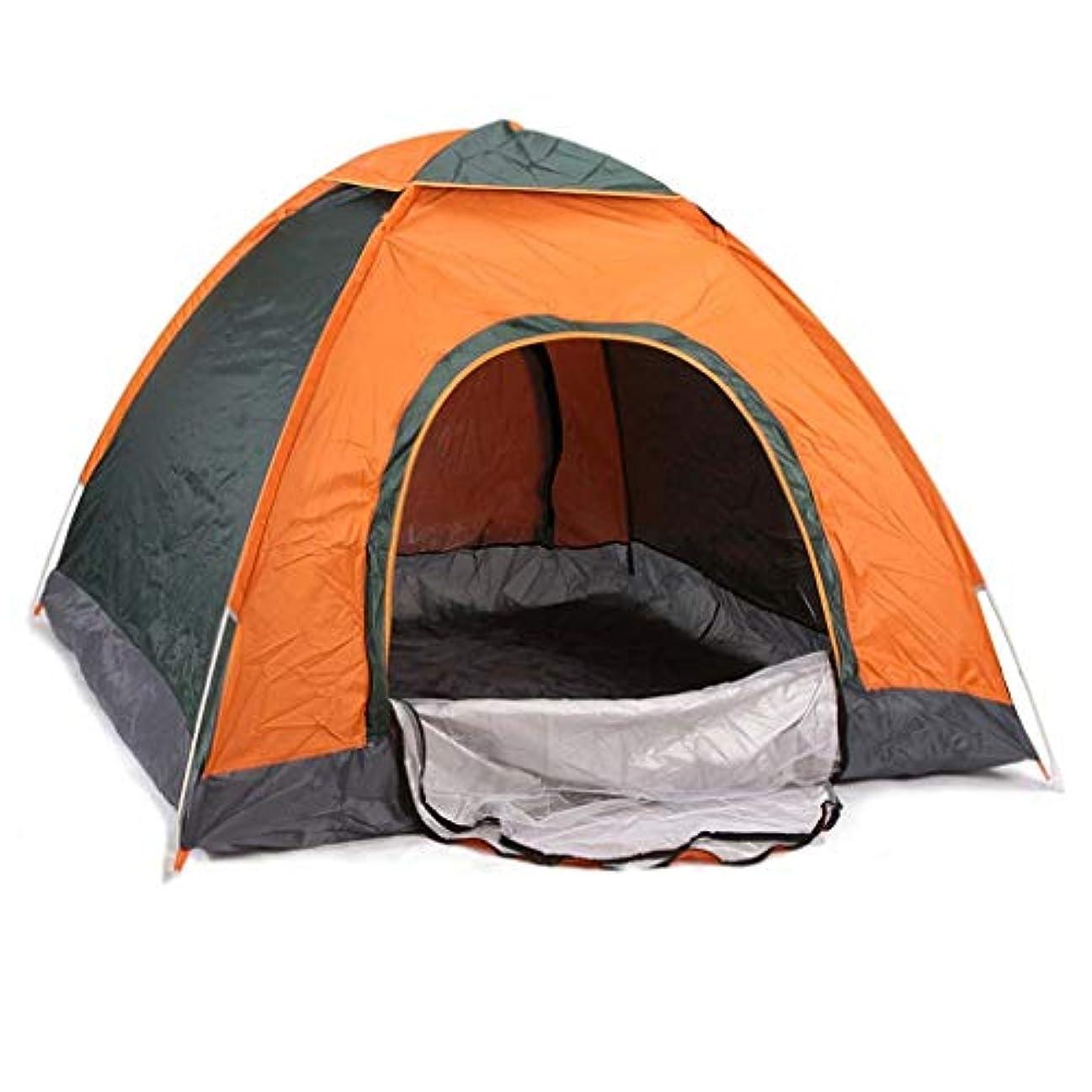 いう送る建築テント 3-4人キャンプテントビーチサンシェード防水折りたたみUVオーニング高速自動オープントラベルハイキング