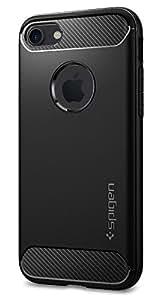 【Spigen】 iPhone7 ケース ラギッド・アーマー [ 米軍MIL規格取得 落下 衝撃 吸収 ] アイフォン 7 用 耐衝撃カバー (iPhone7, ブラック)