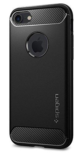 【Spigen】 iPhone7 ケース, [ 強い保護力 落下時 衝撃を吸収する ] ラギッド・アーマー アイフォン 7 用 耐衝撃カバー (iPhone7, ブラック)