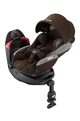 アップリカ シートベルト固定 回転式「ベッド型」チャイルドシート フラディアグロウ ブラウンウッド 0か月...