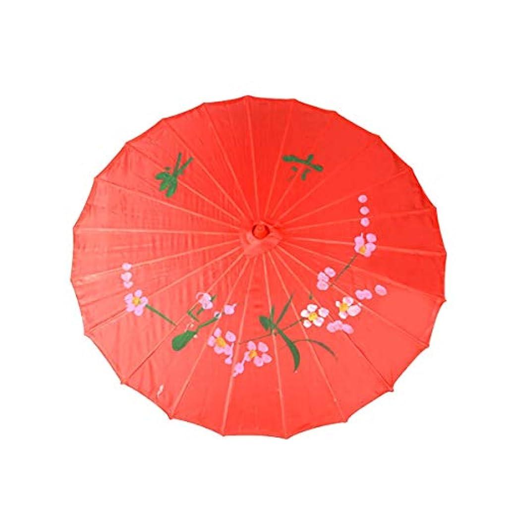 戻す批判演じるWMWLUO 中国風の傘 美しい (Color : Red)