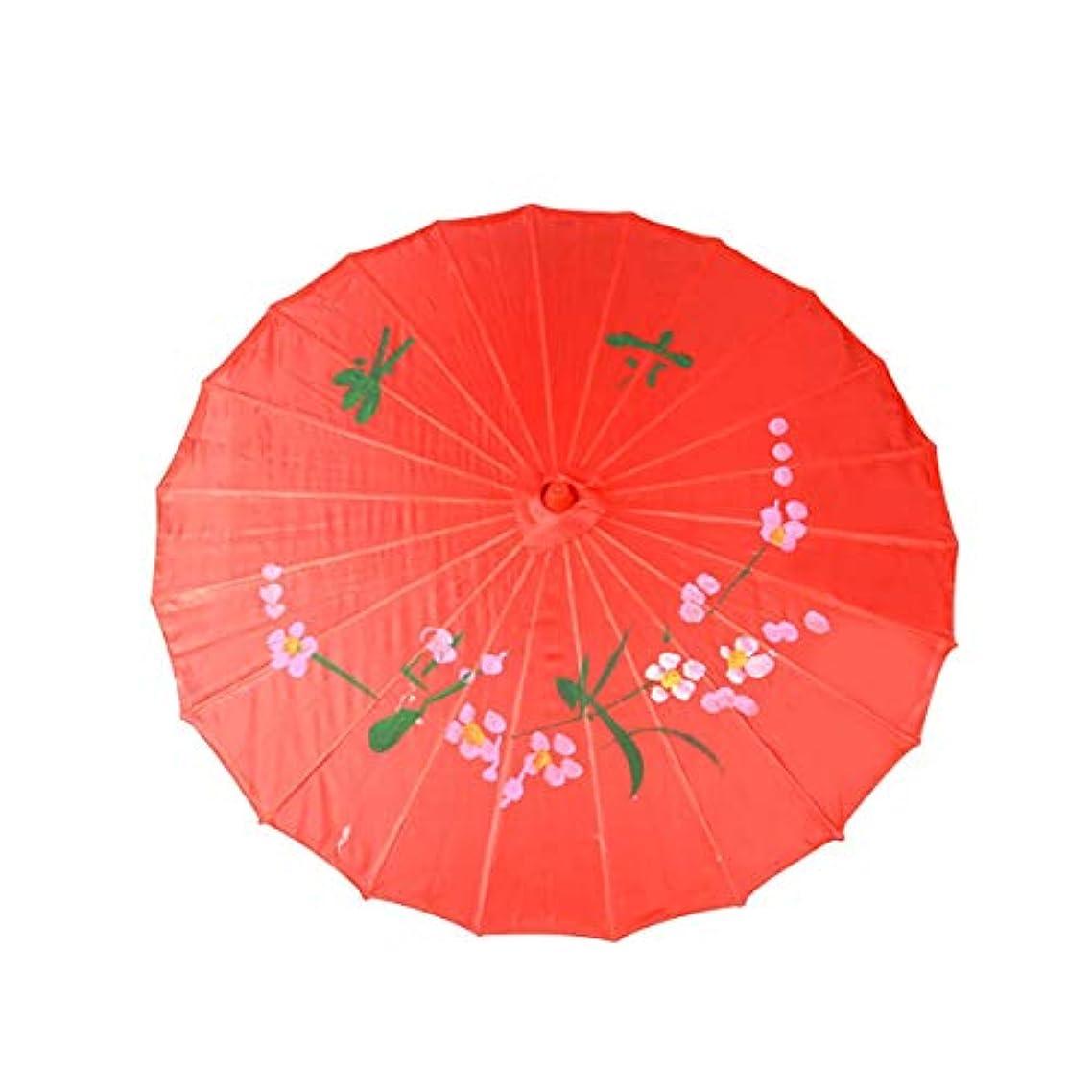 置換部分的にエジプト人WMWLUO 中国風の傘 美しい (Color : Red)