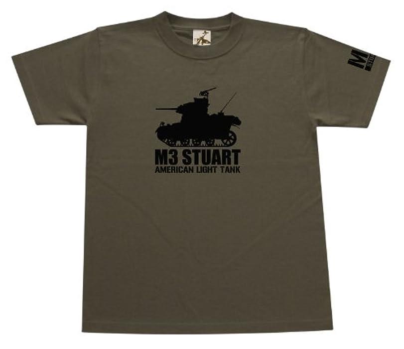 シミュレートする増加する乱暴な(ギガント) GIGANT M3スチュアート軽戦車Tシャツ