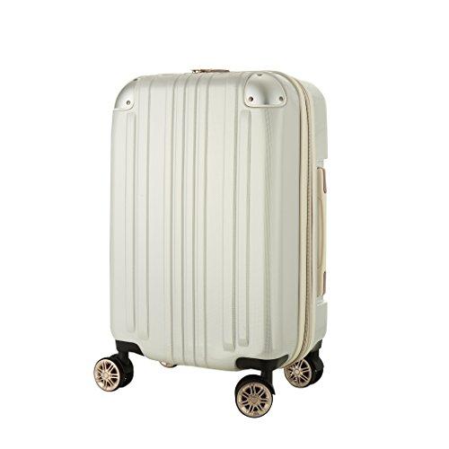 レジェンドウォーカー スーツケース ポリカーボネート 機内持込 ファスナー フレームタイプ ダブルキャスター ホワイト S(ファスナー)