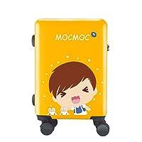 FRF トロリーケース- 学生の漫画のトロリースーツケース、人および女性のための子供の普遍的な車輪のスーツケース20/24/26インチ (色 : Yellow B, サイズ さいず : 26in)