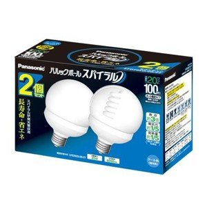 パナソニック 100形 ボール電球タイプ パルックボール スパイラル 2個入 EFG25ED/20/2T クール色 昼光色