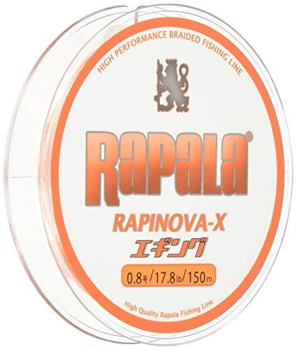 ラパラ(Rapala) ラピノヴァX エギング 150m 0.8号 17.8lb ホワイト/オレンジ Rapinova-X Egi 150M . RXEG15...