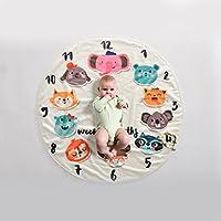 JlRqY Baby Monthlyマイルストーン毛布新生児月間Personalizedフォト写真小道具Shoots Backdrop for Boys Girls