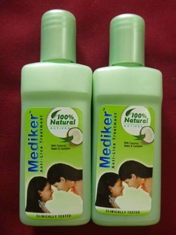 保有者どんなときも雑草2 X Mediker Anti Lice Remover Treatment Head Shampoo 100% Lice Remove 50ml X 2 = 100ml by Mediker [並行輸入品]