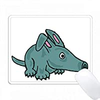 面白いかわいい青Aardvark漫画 PC Mouse Pad パソコン マウスパッド