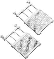 2件套 掛架架 伸縮架 強力伸縮 洗衣架 廁所 防滑 掛桿 架子 收納 墻面收納 裝飾架 白色 (30-45)*24cm