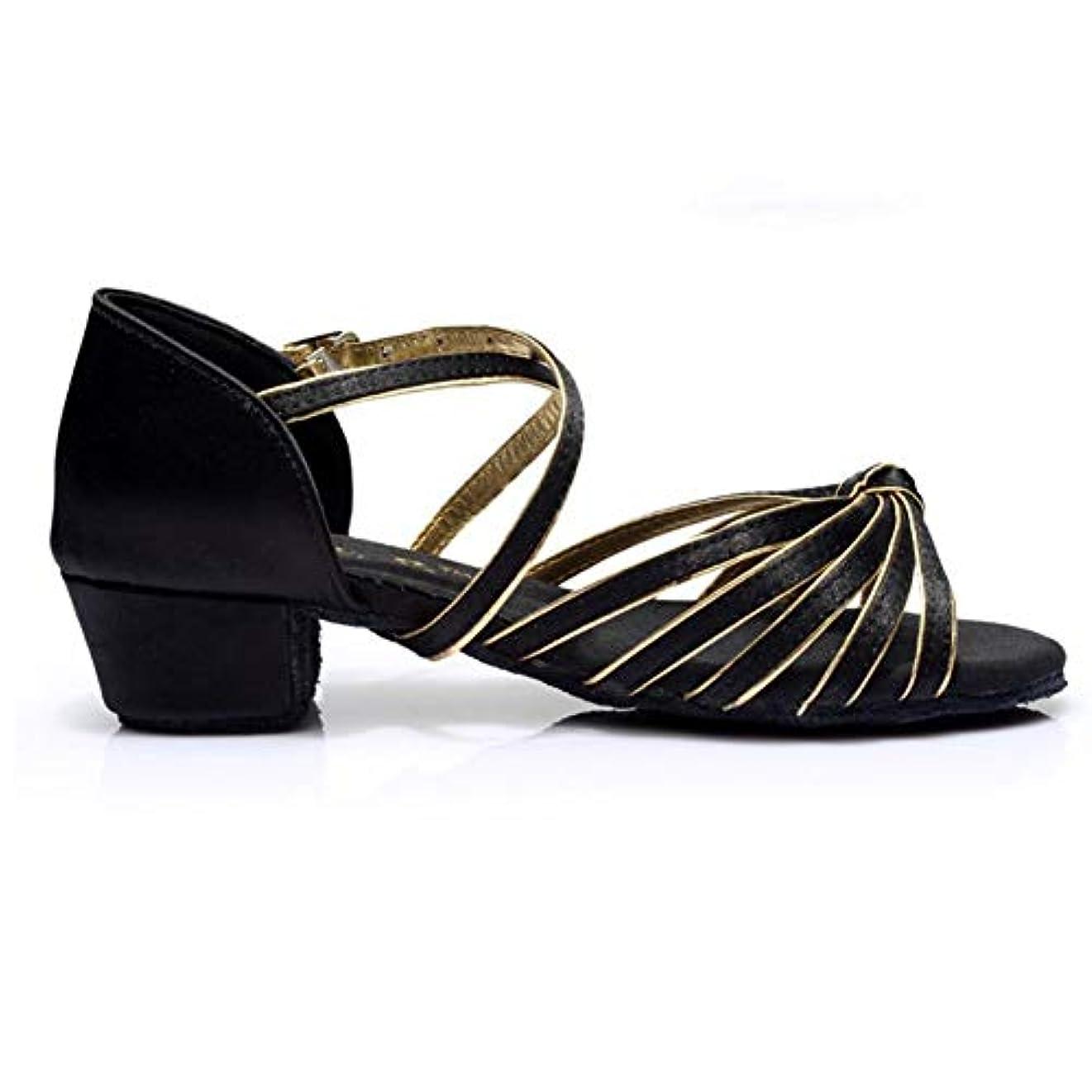 [Dianyejiancai] 最新の女性ダンスシューズ 女の子ラテンダンスシューズ、子供用ダンスシューズローヒール耐摩耗性サンダル (Color : C, サイズ : Foot length=20.3CM(8Inch))