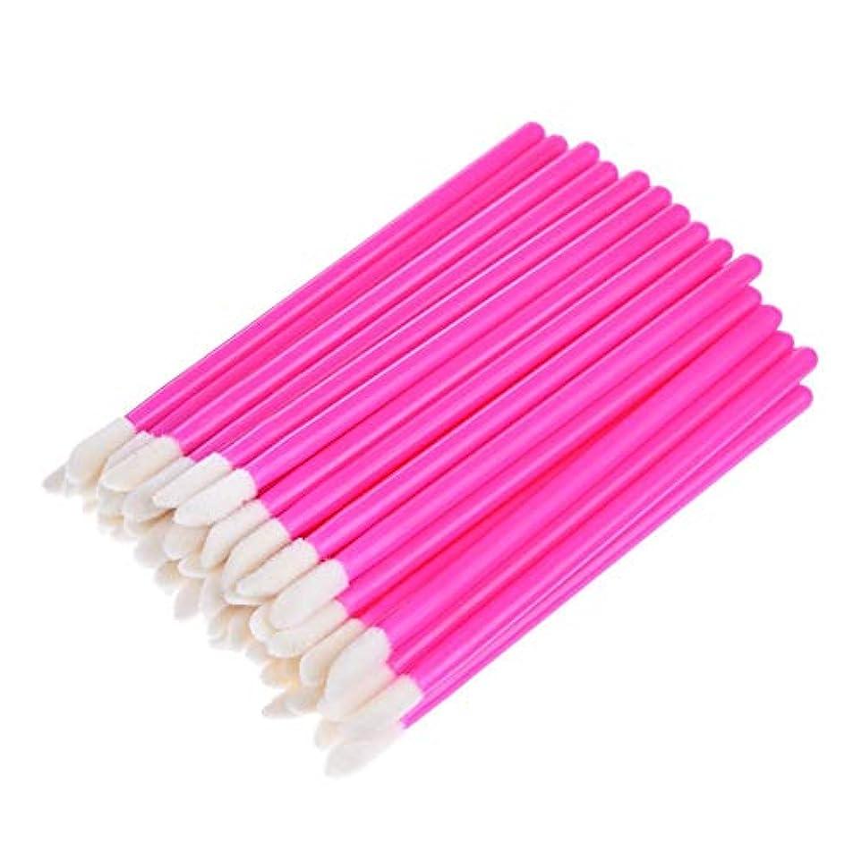 SILUN 50個リップブラシ 使い捨てリップブラシ化粧品キットまつげメイクアップブラシ 化粧用品 化粧筆 化粧ブラシ 携帯用 便利