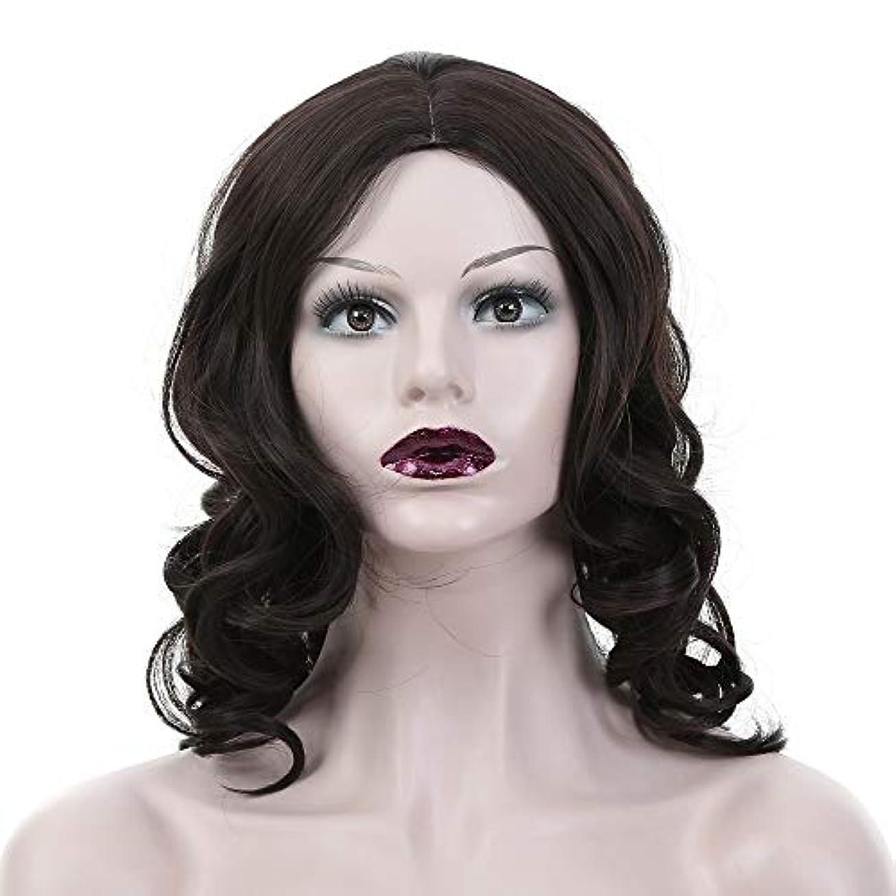 うねる学ぶ潜むWASAIO 女性の黒の長い巻き毛のかつら (色 : 黒)