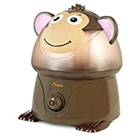 Crane Adorable Ultrasonic Cool Mist Humidifier with 2.1 Gallon Output per Day - Monkey by Crane