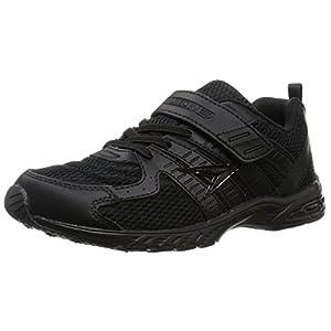 [シュンソク] 通学履き(運動靴) マジックタイプ SJJ 1880 15cm~27cm 2E 黒/黒 23.5 cm