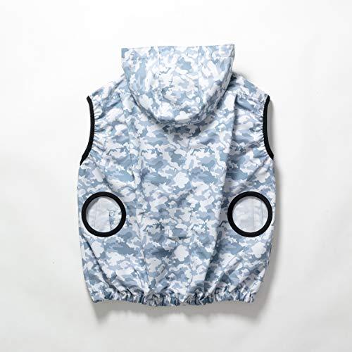 Windo [WinDo]空調服(服のみ)新商品 ポリ100% ベストパーカー カモフラ 綿タッチ 薄い 軽い しなやか 楽らく電池操作ポケット付 W1291 B07RX2YV9Y 1枚目