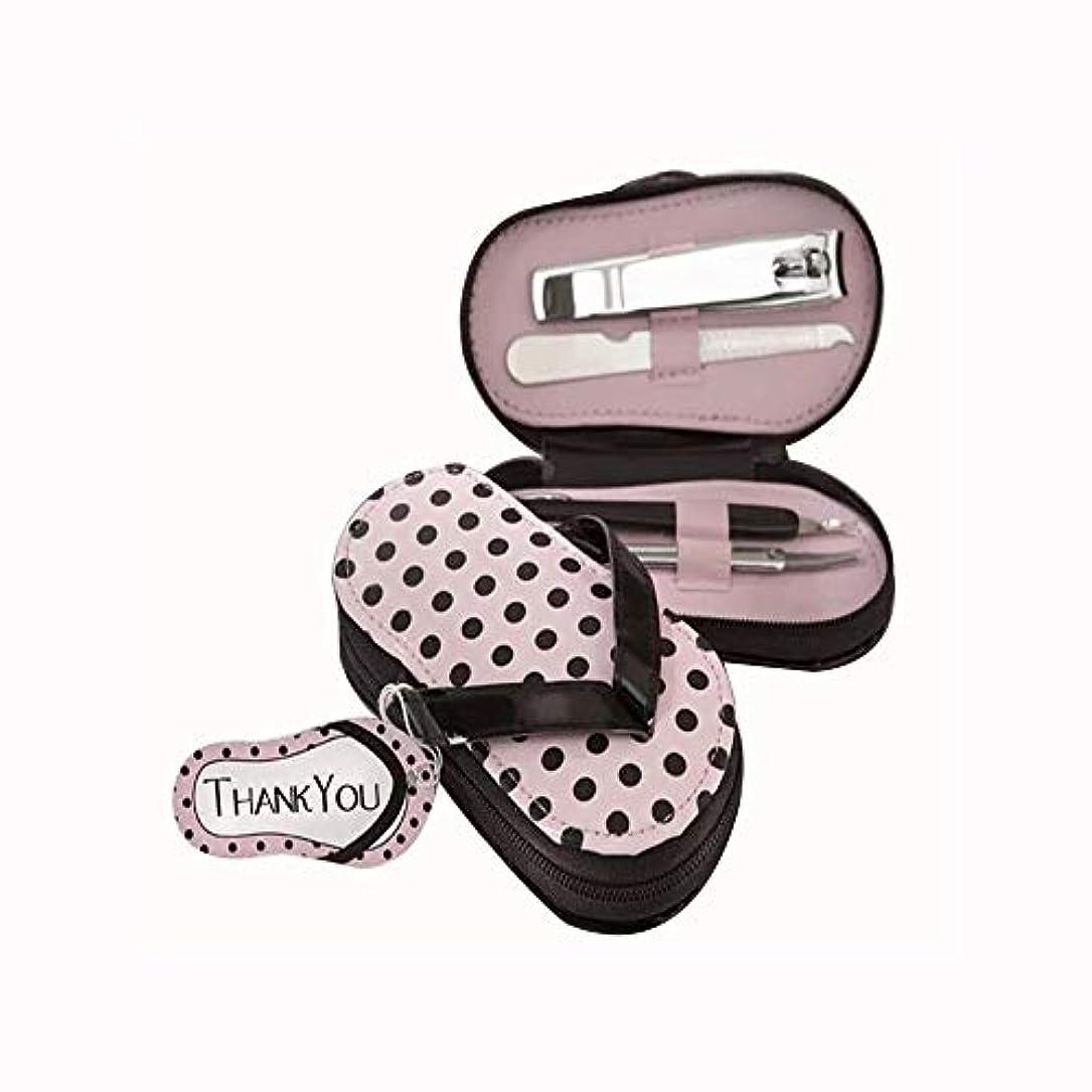 汚染するバナーフェードアウト爪切り セットスリッパの外観ステンレス爪切りセットファッション爪切りセット収納ケース付き、ピンク、4点セット