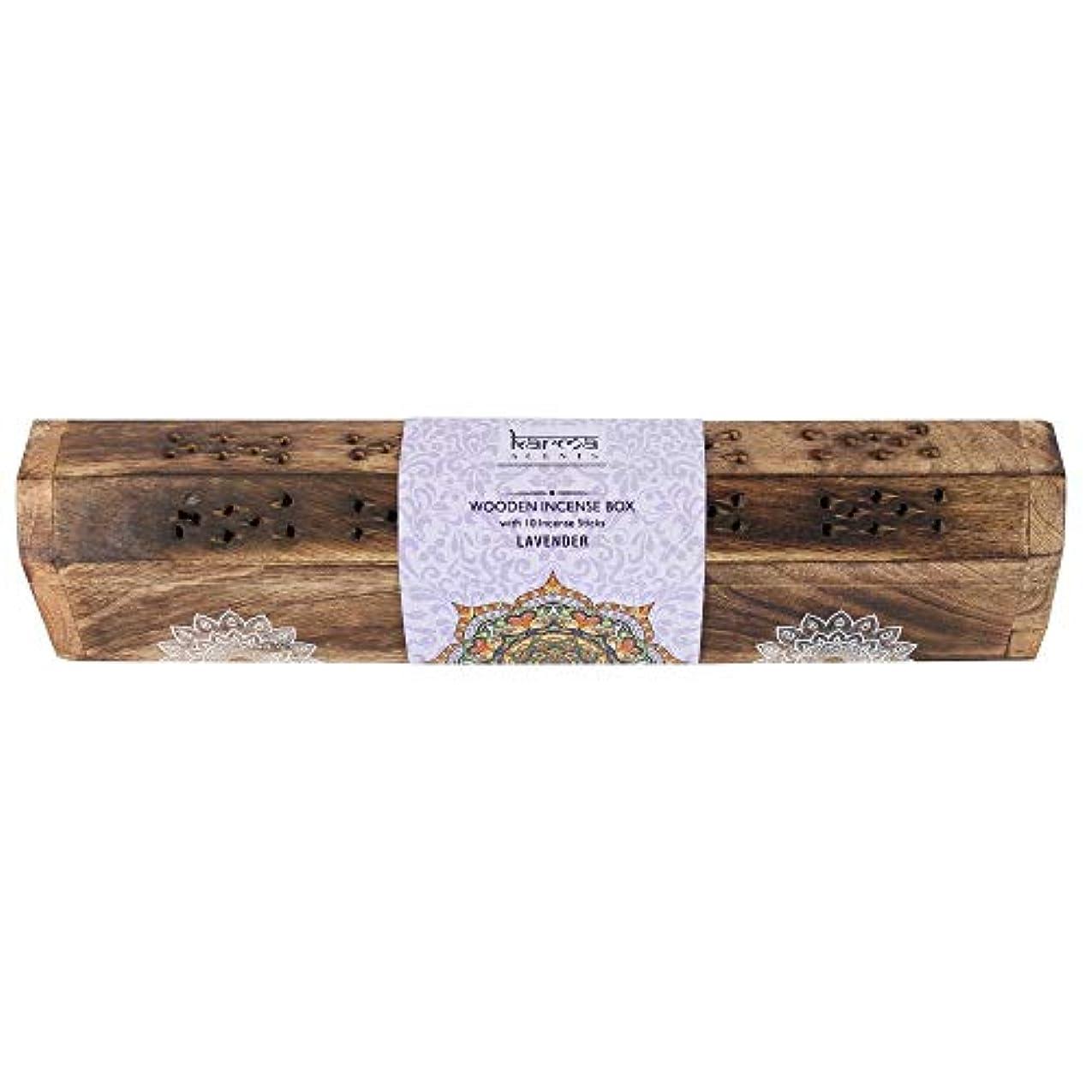 バルブアプト溶融Karmaサンダルウッドお香木製セット