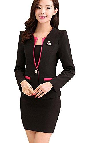 [해외](강 琪芬) KANGQIFEN 여성 긴 소매 비즈니스 사무실 정장 스커트 [병행 수입품]/(Kang Xi Feng) KANGQIFEN women`s long sleeve business office suit skirt [parallel import goods]