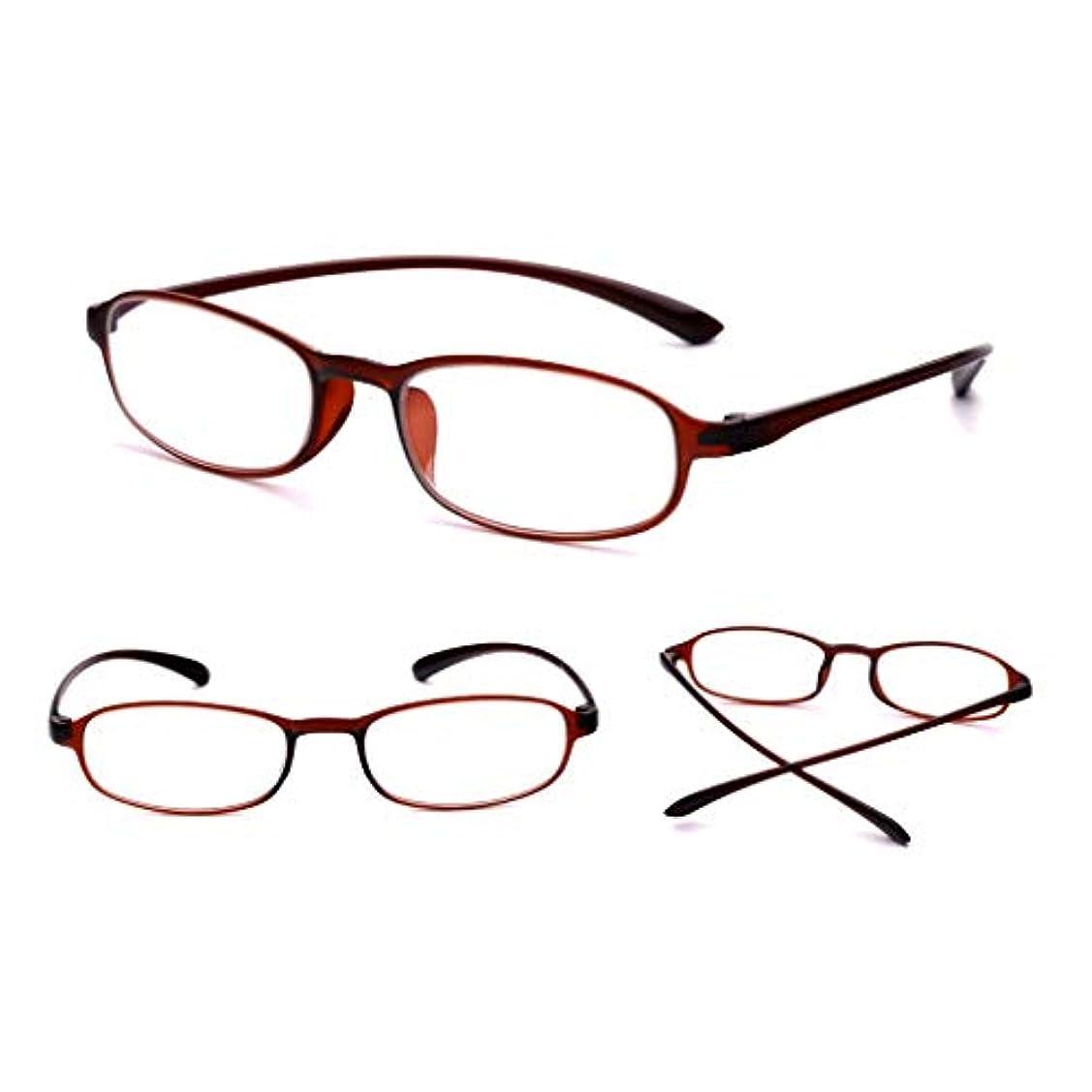 紀元前原稿習熟度クラシックオーバルスタイル老眼鏡、ユニセックス、樹脂メガネ抗疲労老眼鏡(赤、茶、黒)+1.0から+3.0