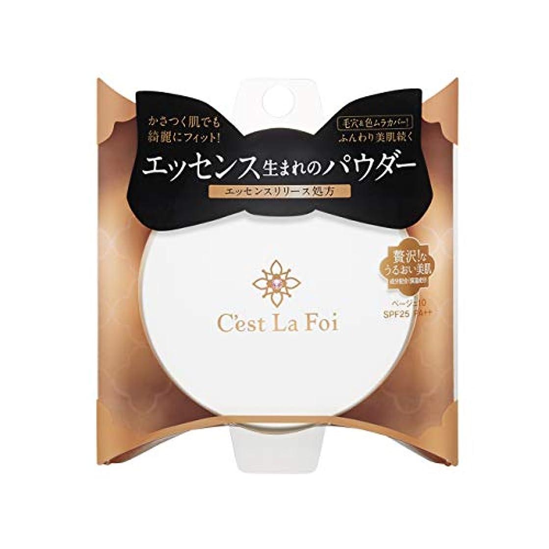 正確さ食べるバレエ乾燥肌もOK かさつく肌でも綺麗にフィット&毛穴カバー 保湿成分配合 セラフォア エッセンスビューティ パウダー ベージュ10