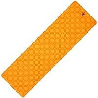 anhpi Inflatable Sleepingマットパッドユニークなバックルデザイン軽量折りたたみキャンプエアマットレスと互換性ハンモックとテントSleeping Bag forアウトドアバックハイキング オレンジ 23675