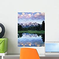 Grand Teton National Park Wall Mural by Wallmonkeys Peel and Stick Graphic (18 in H x 14 in W) WM183095 [並行輸入品]