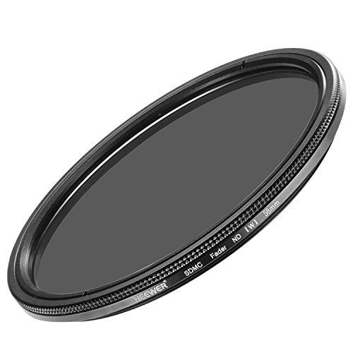 Neewer 58MM超薄いND2-ND400フェーダー中性密度レンズフィルター 調節可能 58MMフィルターネジサイズが付いてあるカメラレンズに対応 光学クラスで作られた
