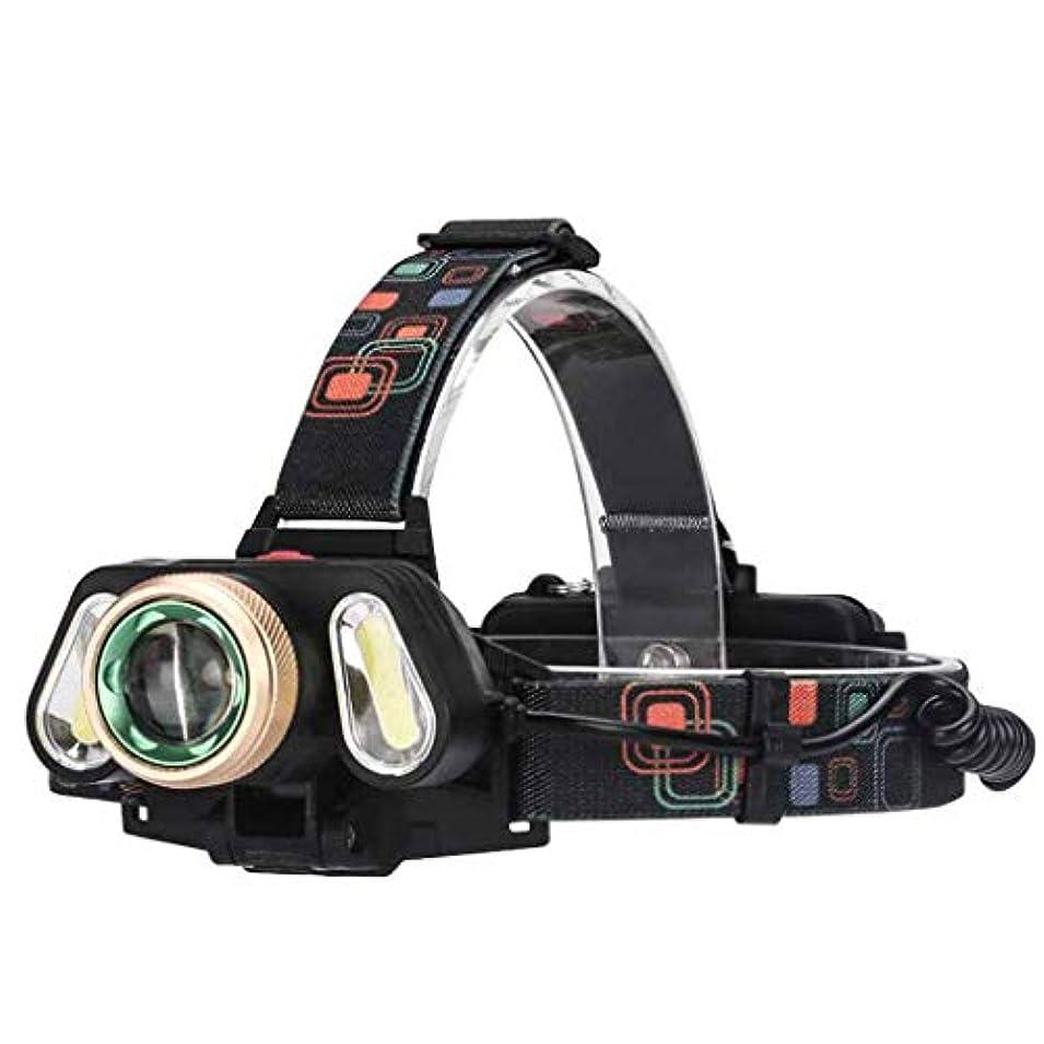 エイズ高度スーダン屋外グレアハイパワー照明防水ナイトフィッシングキャンプ回転ズーム充電式LED多機能ヘッドライト