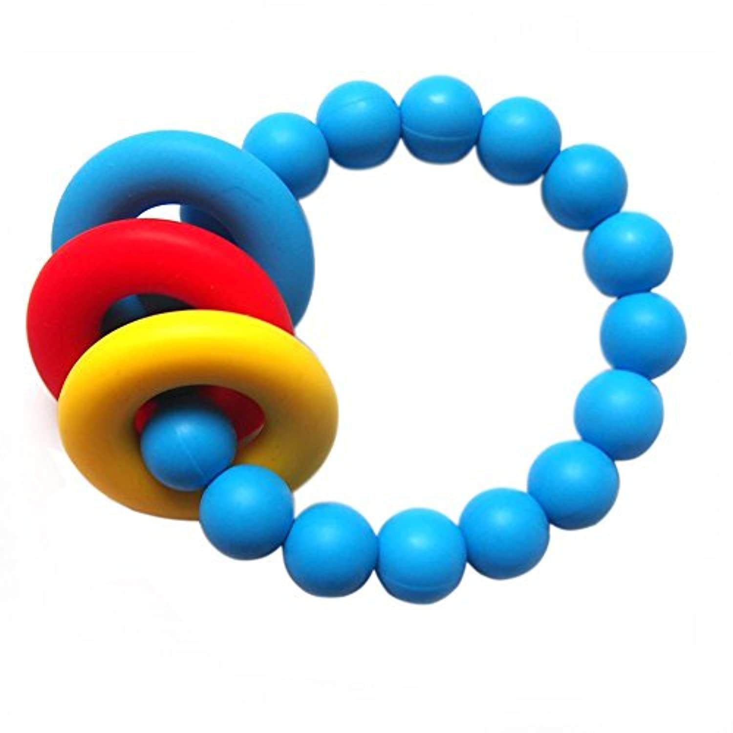 Baby Silicone Sensory Teething Ring Toys,Teether Loop Style Baby Teething Toy BPA-Free by Mugica2011