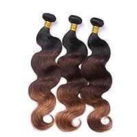 Peisui 女性の実体波の髪の束100%未処理の人間の髪の毛の拡張子 (色 : ブラウン, サイズ : 28 inch)