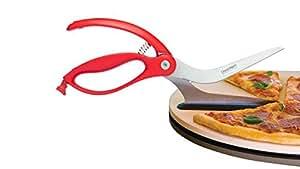 ドリームファーム シッザ ハサミ型ピザカッター・サーバー 赤 BRCDFSC2041RD