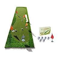 ZHANGQI 室内と屋外のパッティング練習ボールのパッドを練習ブランケットエクササイズボールパッドと練習のゴルフグリーングリーンボールとフラッグサイズの高速プッシュボール:0.8x3.0メートル (色 : A)