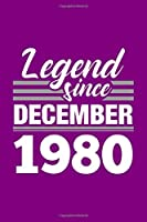 Legend Since December 1980 Notebook: Cornell Notes Journal - 6 x 9, 120 Pages, Affordable Gift, Purple Matte Finish