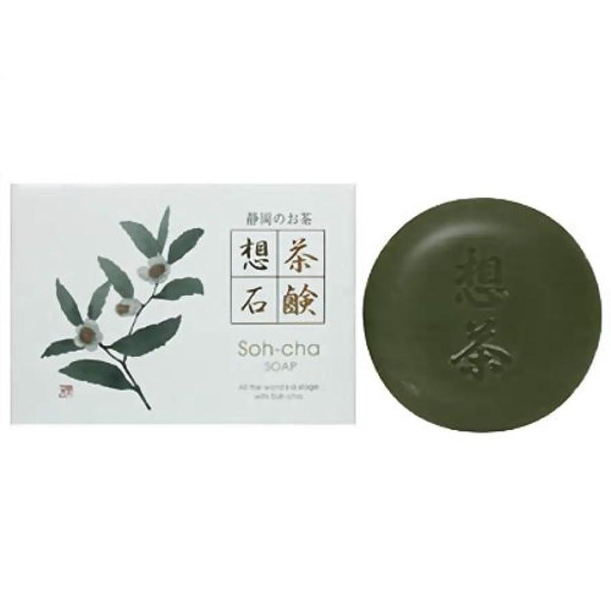 禁じる冒険排泄する静岡茶粉末入 想茶石鹸
