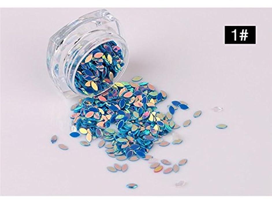 Osize クリアアクリル宝石馬アイ形状チェッカーカットアクリルフラットバックラインストーンスクラップブックネイルアート工芸ネイルアートデコレーション(ブルー)