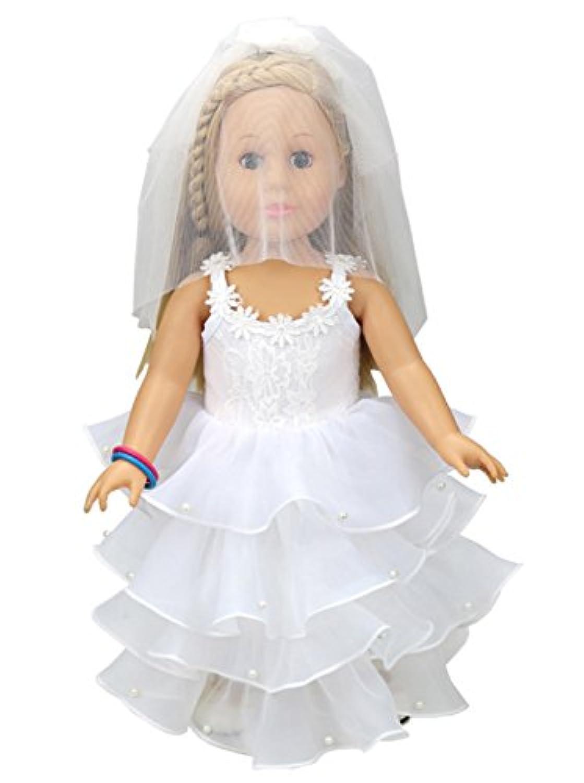 Brynhildr White Wedding Dress for 14-18 inch Doll