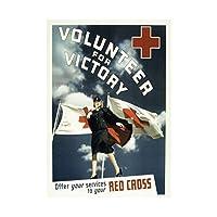 Propaganda War WWII USA Charity Red Cross Volunteer Wall Art Print 宣伝戦争第二次世界大戦アメリカ合衆国チャリティークロス壁