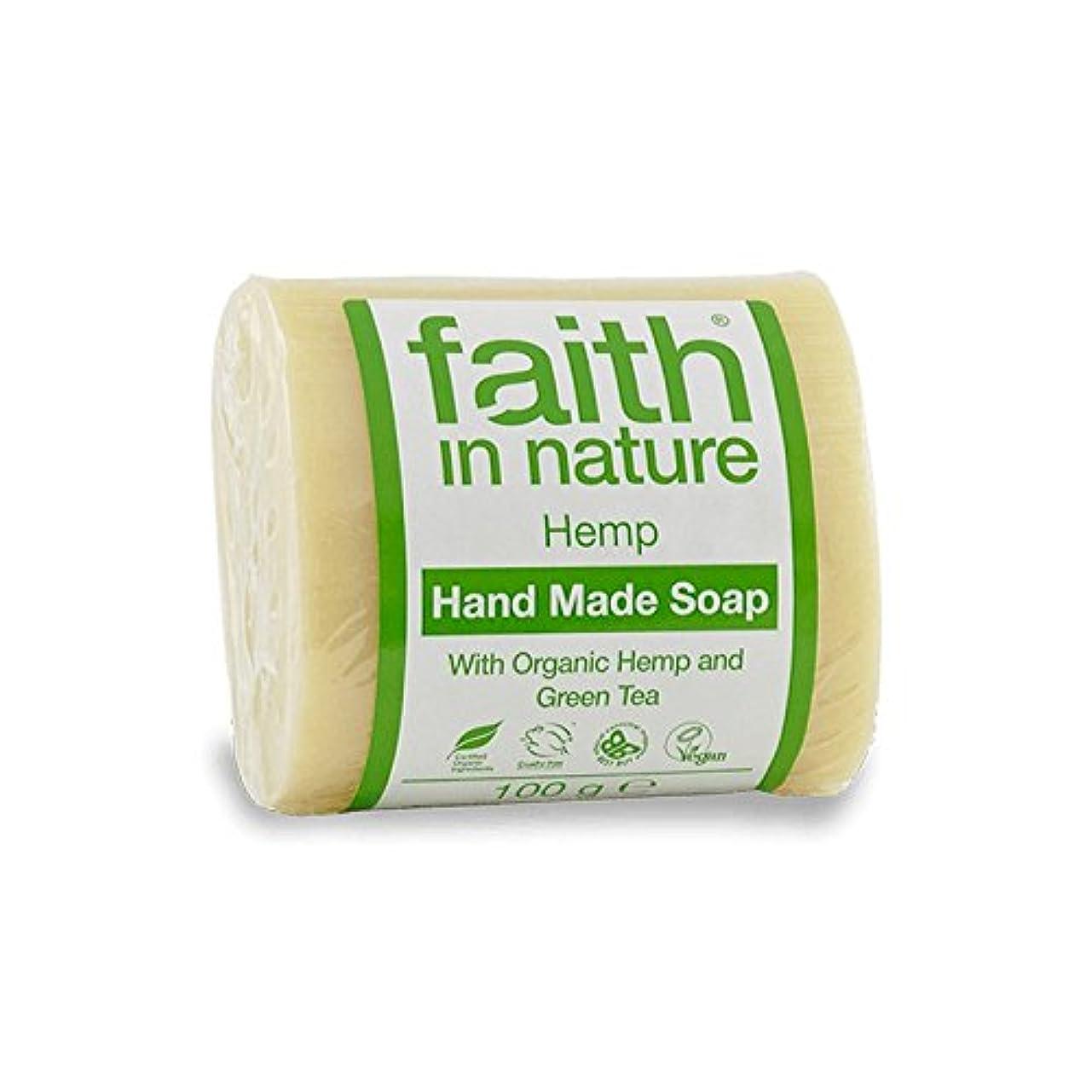 きらめく却下する悲しみ緑茶石鹸100グラムと自然の麻の信仰 - Faith in Nature Hemp with Green Tea Soap 100g (Faith in Nature) [並行輸入品]