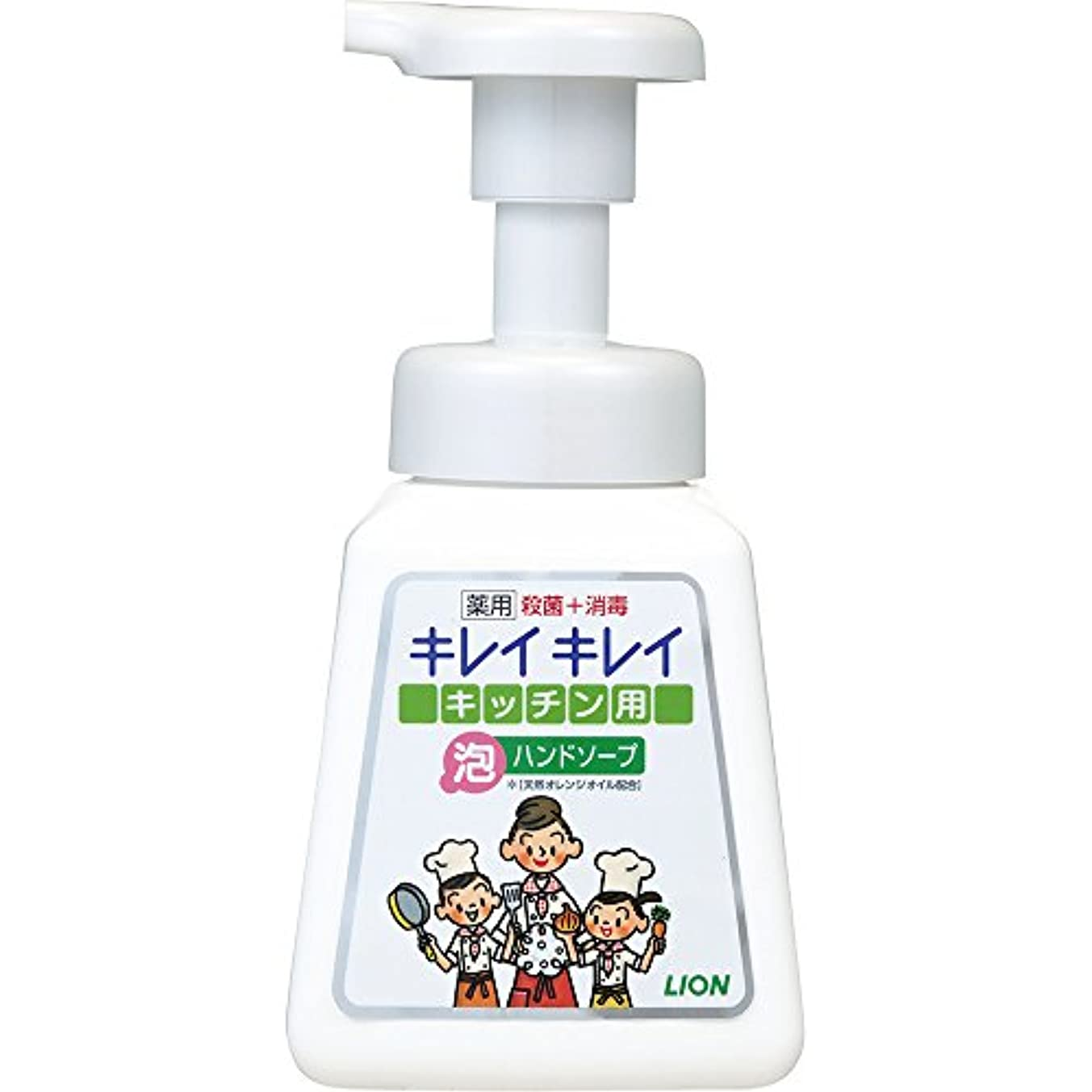 明日薄いですいらいらさせるキレイキレイ 薬用 キッチン泡ハンドソープ 本体ポンプ 230ml(医薬部外品)