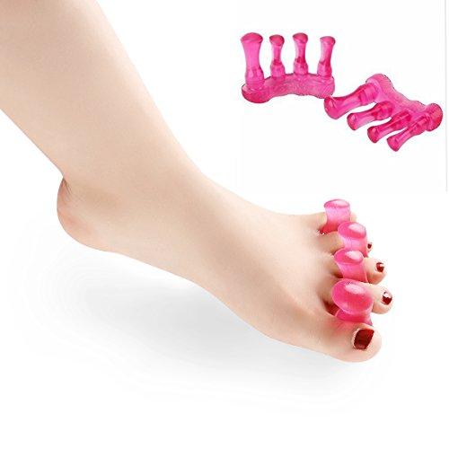 Orchidtent 外反母趾対策 足指全開パッド セパレーター ストレッチで痛みを軽減 歩行をラクラク 足先のマッサージ 足指サポーター 2個入り