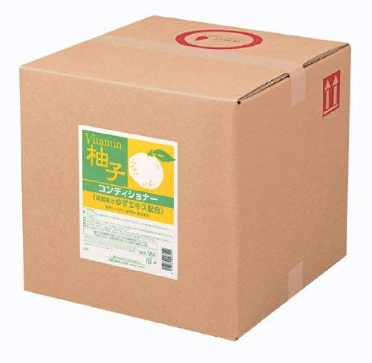 指定足音撤回する業務用 SCRITT(スクリット) 柚子 コンディショナー 18L 熊野油脂 (コック無し)