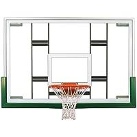 最初チームColossusアップグレードパッケージsteel-glass Gymnasium backboard44 ;リム&パッドアップグレードpackage-レンガレッド