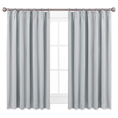 RoomClip商品情報 - NICETOWN 遮光カーテン 2枚セット ライトグレー リビングルーム UVカット 幅100cm丈110cm