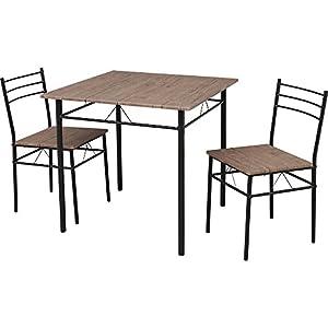 アイリスプラザ ダイニングテーブルセット 3点セット(チェア×2・テーブル×1) ブラウン テーブル/幅約75×奥行約75×高さ約74 チェア/幅約37×奥行約45×高さ約77.5(座面高42) ASP-75