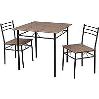ダイニングテーブルセット 3点セット(チェア2脚・テーブル幅75) 幅75×奥行75×高さ74 ブラウン ASP-75