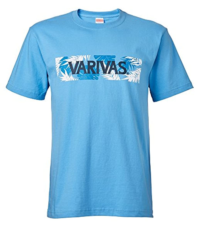 投票サーフィン泥沼VARIVAS(バリバス) Tシャツ VAT-42 M サックス.