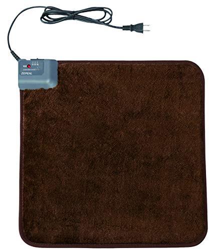 ZEPEAL ホットマット(自動オフタイマー付き) 45×45cm ブラウン DM-K4515H