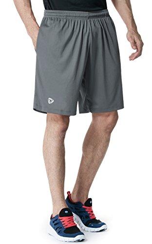 MTP07-DGY-2XL(テスラ)TESLA HyperDri ドライフィット スポーツ ショーツ [UVカット・吸汗速乾] アクティブ Cool ドライ ランニング アスリート フィットネス パンツ